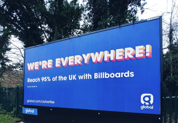 Billboard with advertising