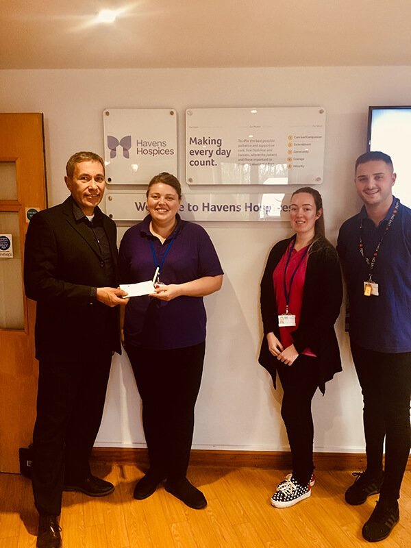 CVB supporting Havens Hospice at Christmas