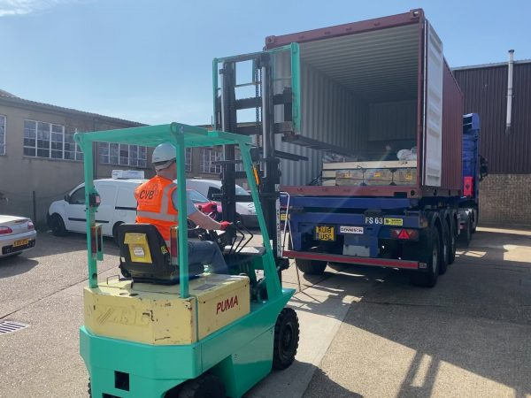 Fork Lift loading lorry