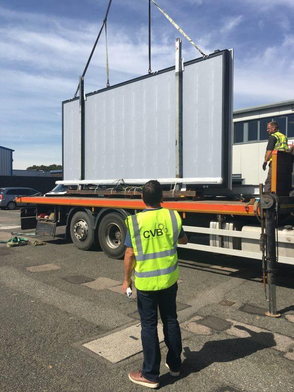 Screen arrives on specialist stillage